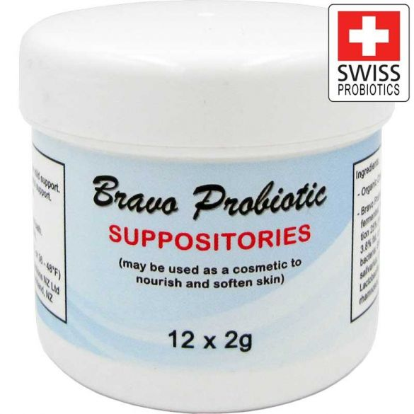 12 Bravo Probiotic Suppositories